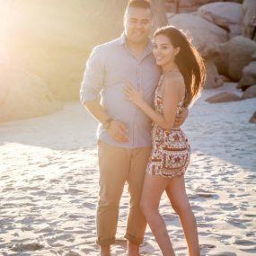 DK Photography CCD_3177-1-285x285 Kirstie & Alex's Fun Engagement Shoot on Llandudno Beach with Autumn Sunset  Cape Town Wedding photographer