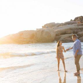 DK Photography CCD_3243-1-285x285 Kirstie & Alex's Fun Engagement Shoot on Llandudno Beach with Autumn Sunset  Cape Town Wedding photographer
