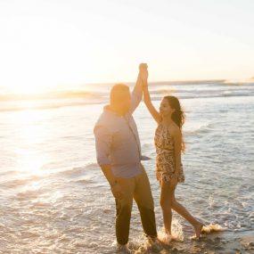 DK Photography CCD_3438-1-285x285 Kirstie & Alex's Fun Engagement Shoot on Llandudno Beach with Autumn Sunset  Cape Town Wedding photographer