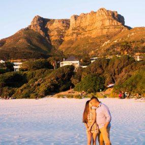 DK Photography CCD_3507-1-285x285 Kirstie & Alex's Fun Engagement Shoot on Llandudno Beach with Autumn Sunset  Cape Town Wedding photographer